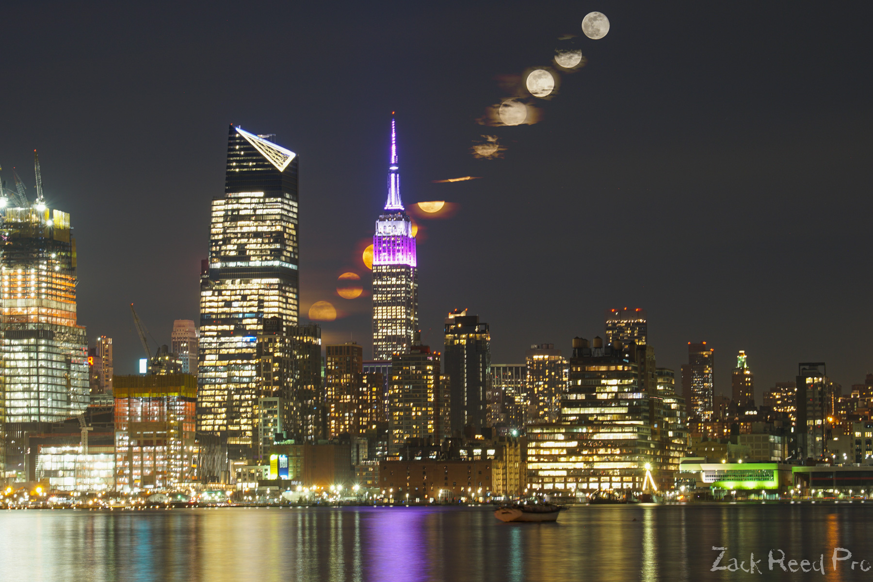 Empire State Building Moon Stack