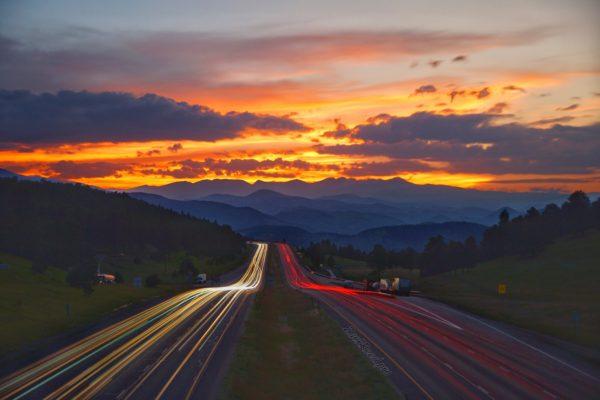 Sunset I-70