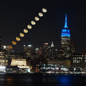 Empire State Builidng Moon Stack