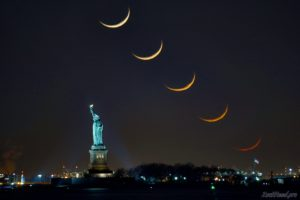 Crescent Moon Stack Statue of Liberty