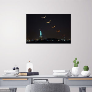 Room View Crescent Moon Stack Statue of Liberty