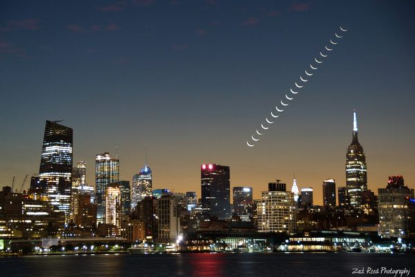 Crescent Moon Stack over Empire State Builidng